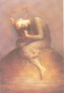 Esperança, tela de G. Watts, 1885