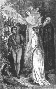 A Tempestade - Próspero, Miranda, Fernand e Ariel.0.6