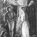 Próspero, com o auxílio de Ariel, planeja casar Miaranda com Fernand