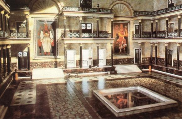Biblioteca de Alexandria - Grande Sala - Reconstituição baseada em pesqusas sec.3 a.C