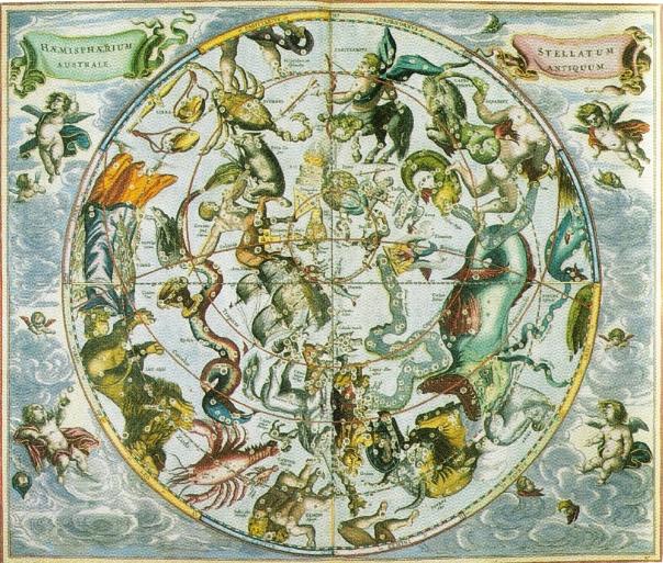 Céu Austral, Andreas Cellarius, 1660.
