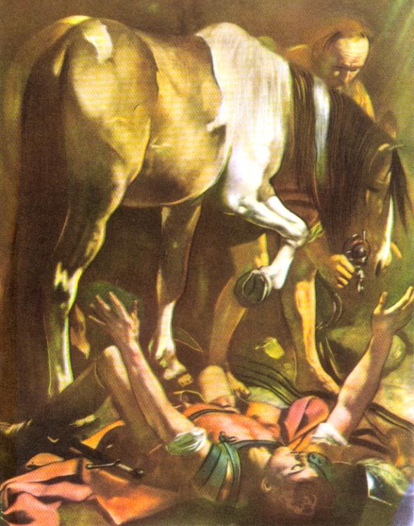 A Queda de São Paulo; óleo sobre tela de Caravaggio (1571-1610)