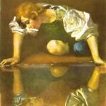 Narciso na Fonte, óleo sobre tela de Caravaggio