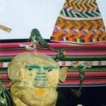 Máscara ritualística e outros elementos de cura xamânica