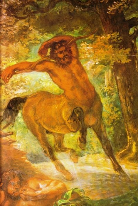 Detalhe de óleo sobre tela de Eugène Delacroix (1798-1863)