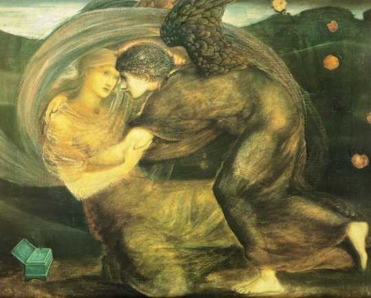 Eros e Psique; Sir Edward Burne-Jones (1833-1898)