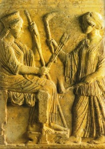 Deméter e Perséfone, Museu do Elêusis, 480 a.C.