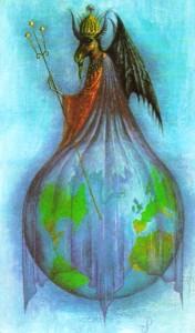 A verdadeira magia é o amor a nos libertar do subjugo das ilusões do Mundo. (Ilustr. de Jan Parker)