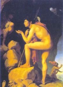 Édipo e a Esfinge; óleo sobre tela de Jean Auguste Ingres, 1808