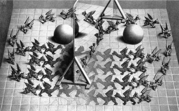 Escher14-Espelho Magico-litografia1946