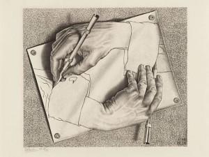 Desenhando (litogravura),  1948