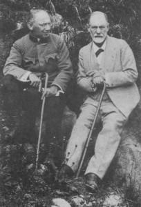 Freud e Sandor Ferenczi, que à época servia (como médico) o exército húngaro (1917)
