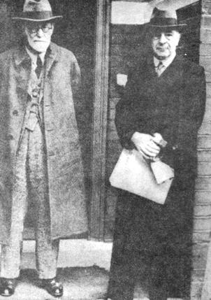 Freud e Ernest Jones, 1938