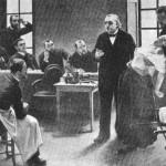 Aula de J. M. Charcot sobre hipnose e histeria na famosa Salpêtriére, em Paris