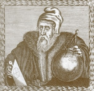 John Dee, magista inglês que, por meio de cálculos astrológicos, arriscou também prever uma data para o fim do mundo.