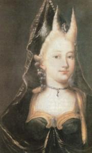 Caterine Guldenmann, mãe de Kepler, óleo sobre tela, anônimo, século XVIII