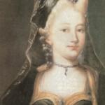 Caterine Guldenman, mãe de Kepler, óleo sobre tela de pintor anônimo, século XVIII