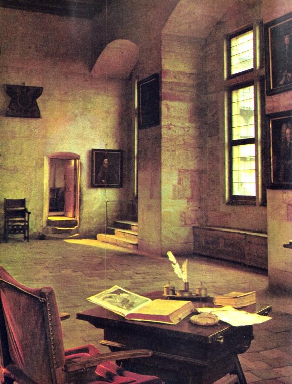Aposentos de Kepler no Castelo de Belvedere, Praga, também moradia de Tycho Brahe e de Rodolfo II, o imperador alquimista.