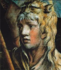 Héracles em pele do leão de Nemeia