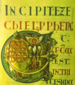 Frontispício do Livro de Ezequiel, Bíblia de Winchester, 1160-1170