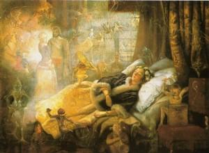 O Eterno Imaginário, óleo sobre tela de John Anster
