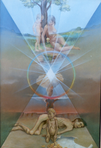O Resgate, óleo sobre tela de Eduardo Vilela