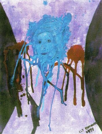 """Passado"" - Vida Sofrida, acrílico sobre tela, Elisalva Gomes Rodrigues, 1999, (BA)"