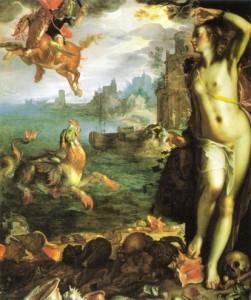 Perseu liberta Andrômeda, tela de Joachim Wiewael, 1630