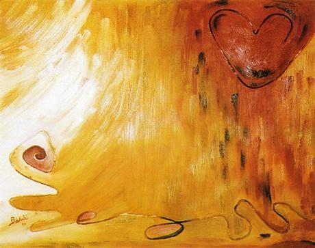 Por um Fio, óleo sobre tela com colagem e barbante, de Maria Theresa Bertone Cardoso Maia Baroni, 1999, (SP)