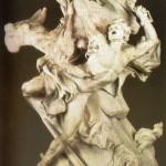 Prometeu Acorrentado (de Adam Nicolas Sebastien) no Cáucaso, castigado por Zeus por ter-lhe roubado o fogo sagrado, o qual entregou aos homens.