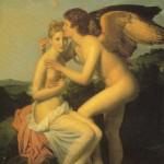 Psique Recebe o 1º Beijo de Amor; François Girard, tela, 1798