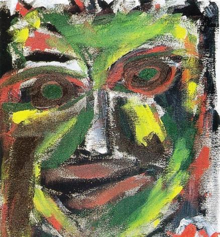 Reflexão, acrílico sobre tela, de Luís Santos Silva, 1999, (BA)