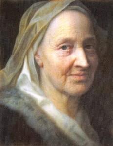 Retrato de uma Anciã, óleo sobre bronze de Balthasar Denner (1685-1749)