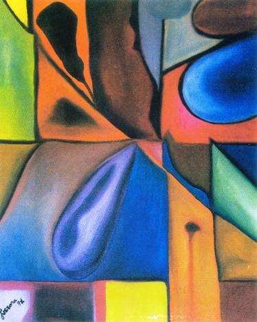 Sementes, óleo sobre tela, Jussara Regina Marchezini, 1997, (MG)