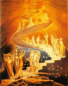A Escada de jacó, de William Blake (1757-1827)
