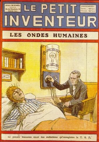 Telepatia, tema-capa de popular revista parisiense de ciência, 1928.