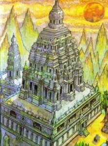 Templo Proibido - ilustraçao. J. Skrivanek