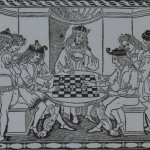 Xadrez em xilogravura árabe de 1493